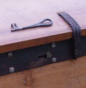 Lock and key for Viking chest